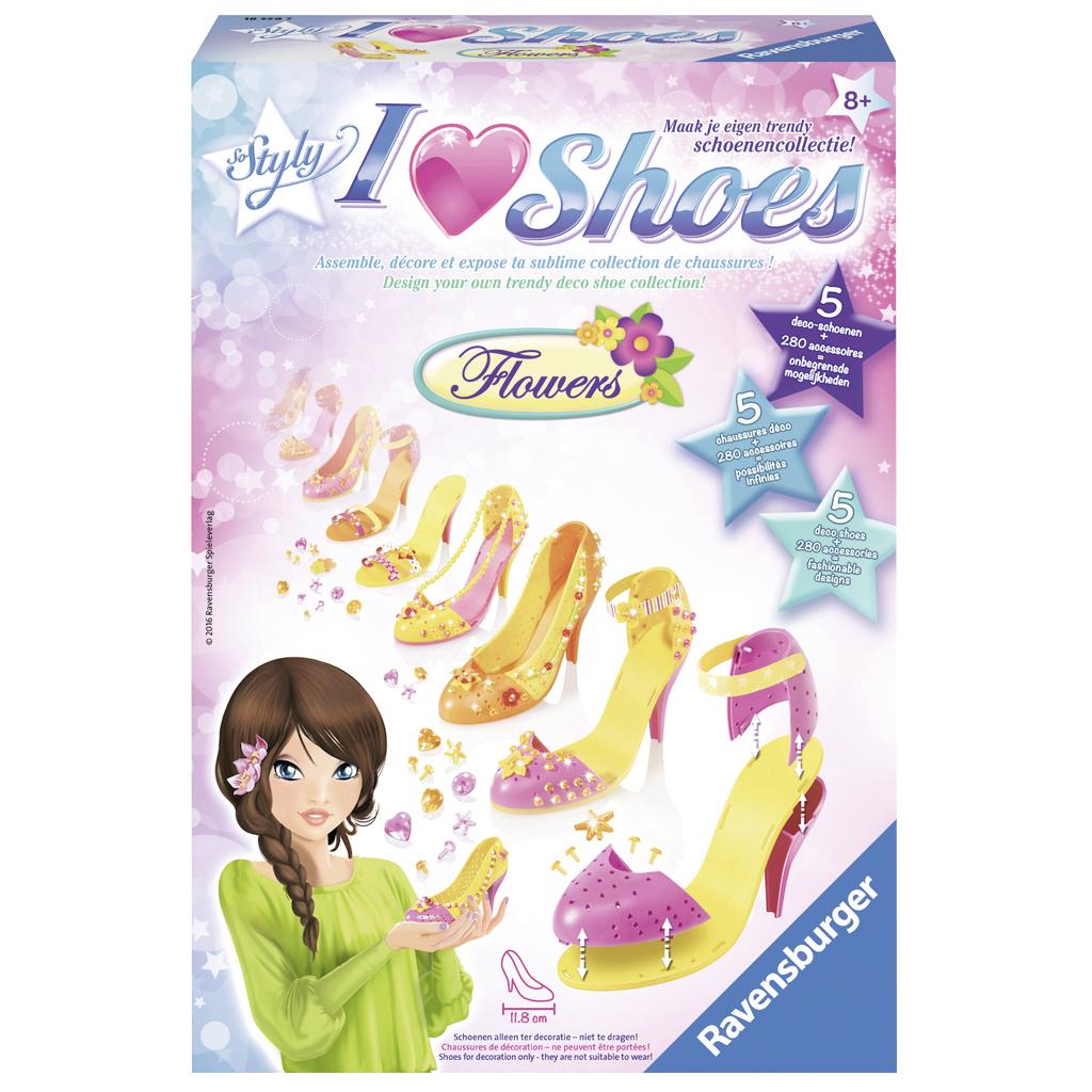 Afbeelding van Hobbyset So Styly I Love Shoes: Flowers