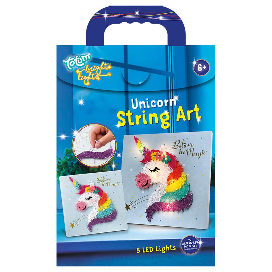 Afbeelding van Bright Lights String Art Unicorn