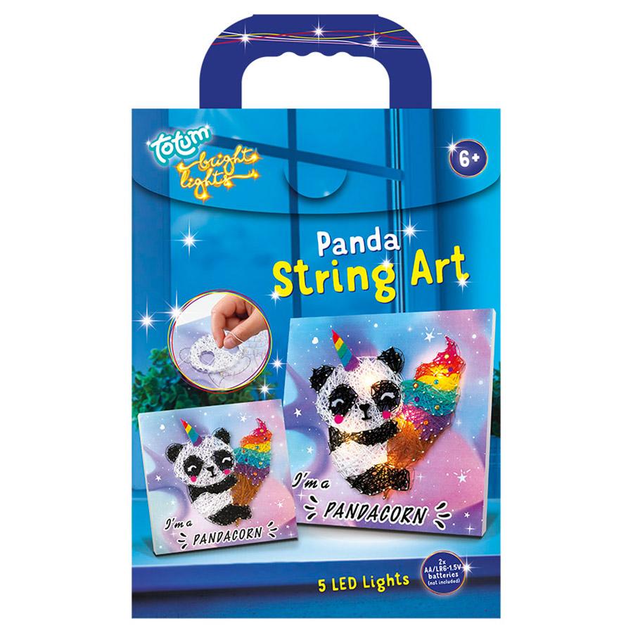 Afbeelding van Bright Lights String Art Pandacorn Totum