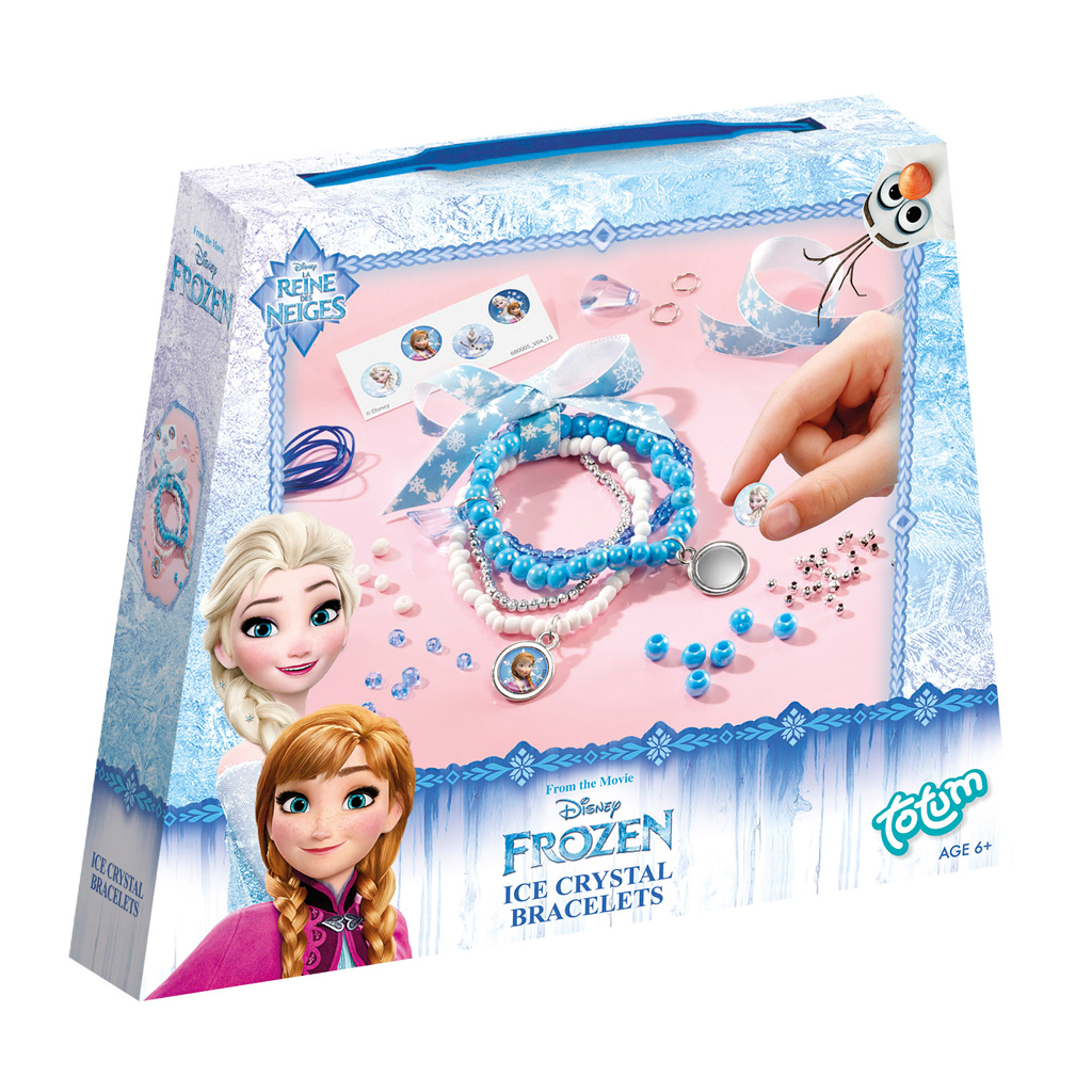 Afbeelding van Hobbyset Disney Frozen IJskristal Armbandjes Maken