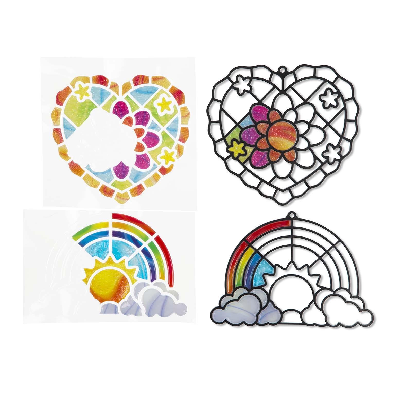 Afbeelding van Hobby Glasdecoratie Hart Regenboog