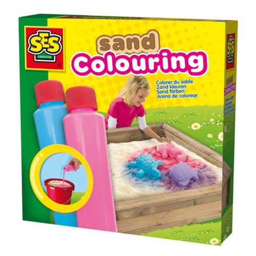 Afbeelding van Ses Zandkleuren Blauw En Roze