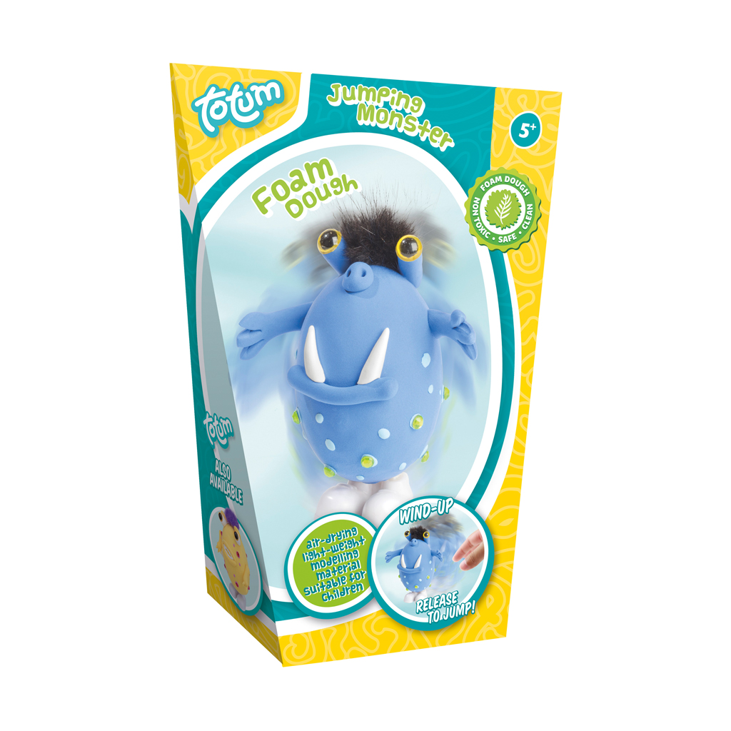 Afbeelding van Foamdough Springend Monster Blauw Totum