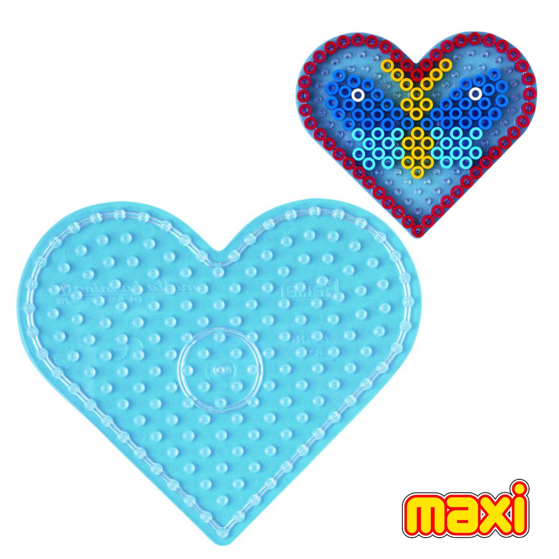 Afbeelding van Maxi Strijkkralen Grondplaat Hama Hart