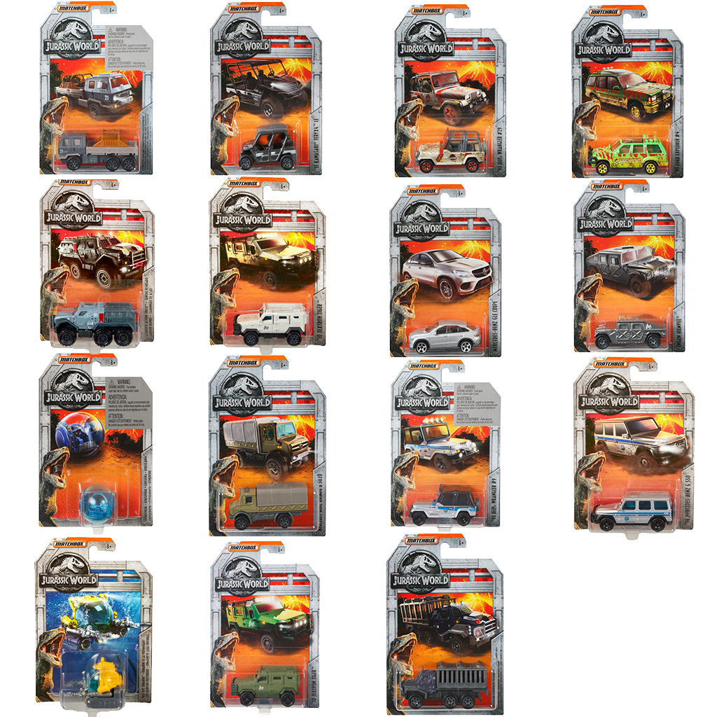 Afbeelding van Jurassic World Matchbox Diecast Collectie (Legacy & Movie) Assorti