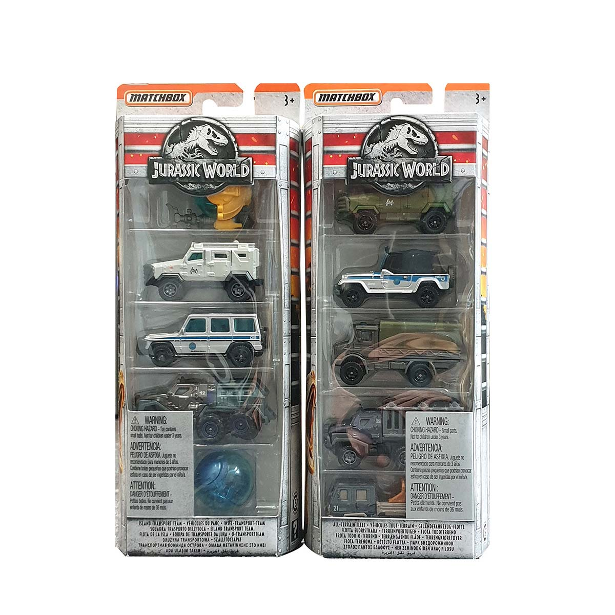 Afbeelding van Jurassic World Matchbox Movie Set Met 5 Auto's Assorti