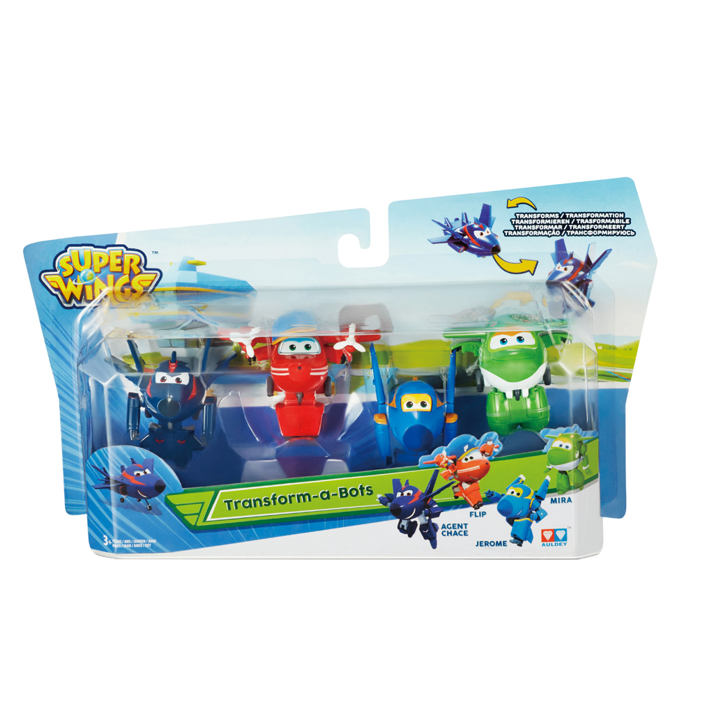 Afbeelding van Transform-A-Bots Super Wings (Poppa/Dizzy/Jett/ Donnie)