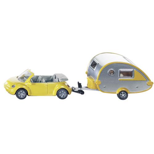 Afbeelding van Auto Siku Volkswagen Beetle Met Caravan