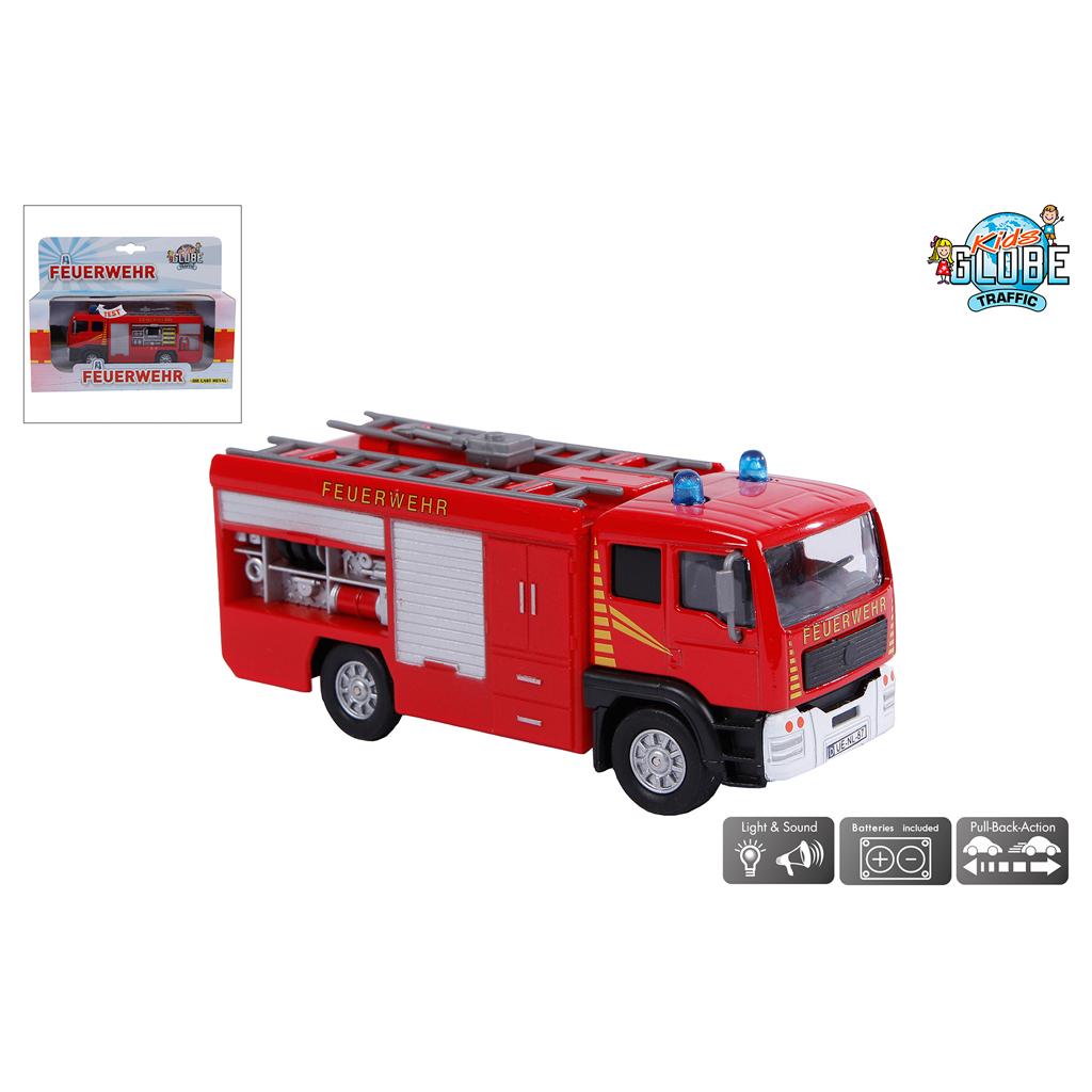 Afbeelding van Auto Diecast Feuerwehr Met Licht En Geluid