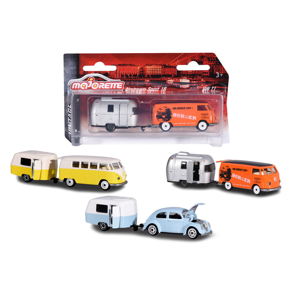 Afbeelding van Auto Met Caravan Majorette 3 Assorti