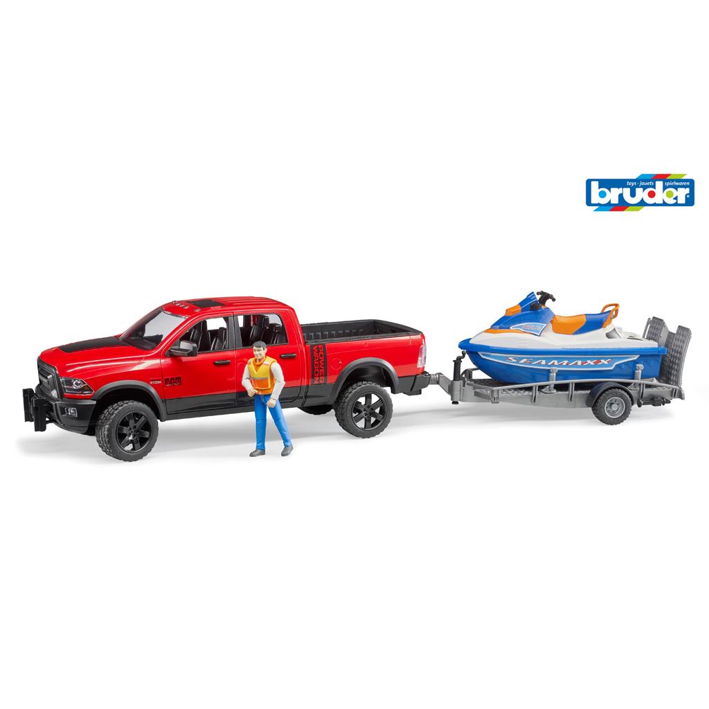 Afbeelding van Auto Bruder Dodge RAM Met Jet Ski
