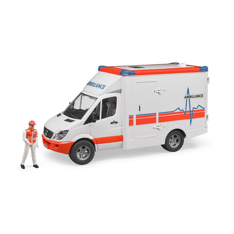 Afbeelding van Auto Bruder Ambulance Met Chauffeur