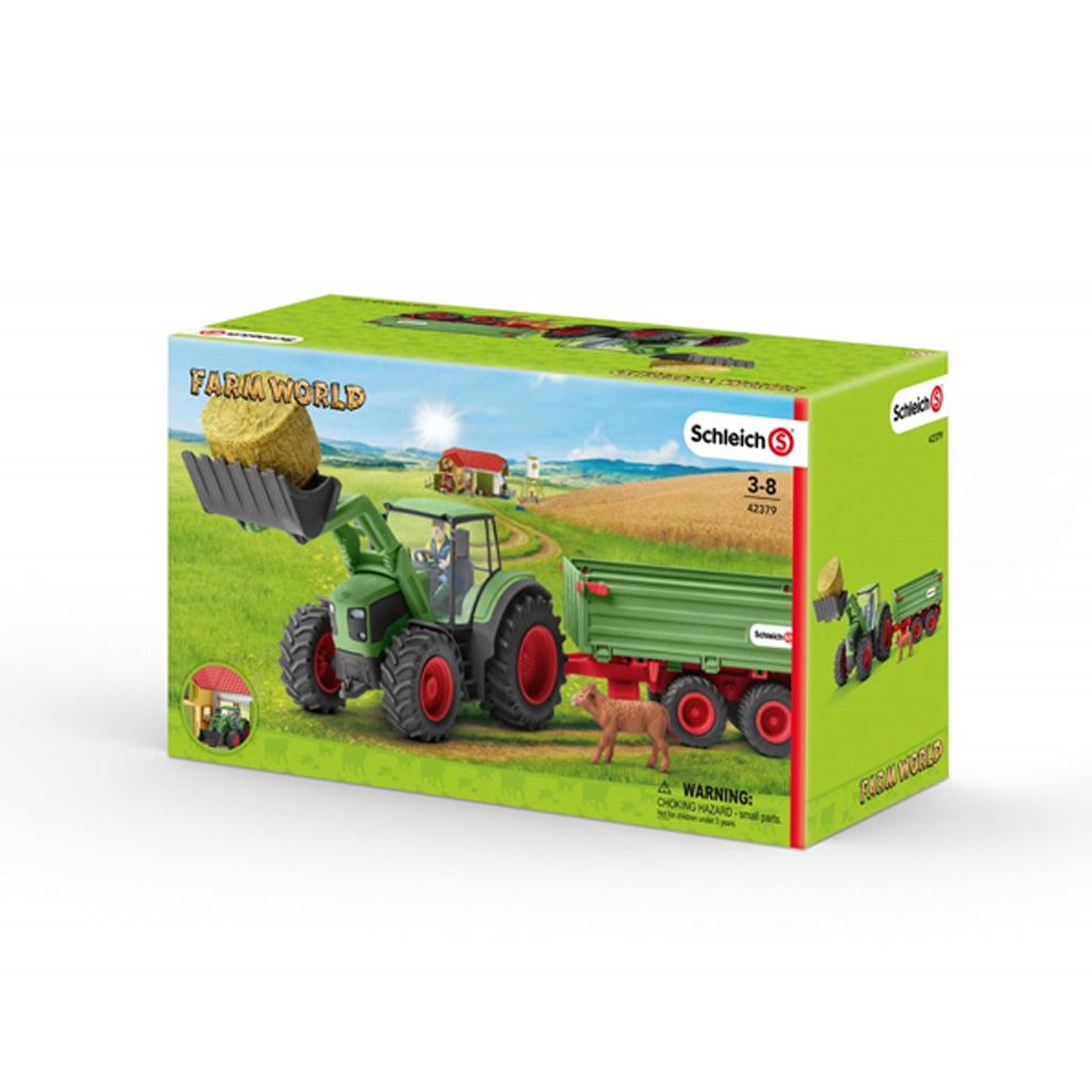 Afbeelding van Schleich 42379 Tractor Met Aanhangwagen