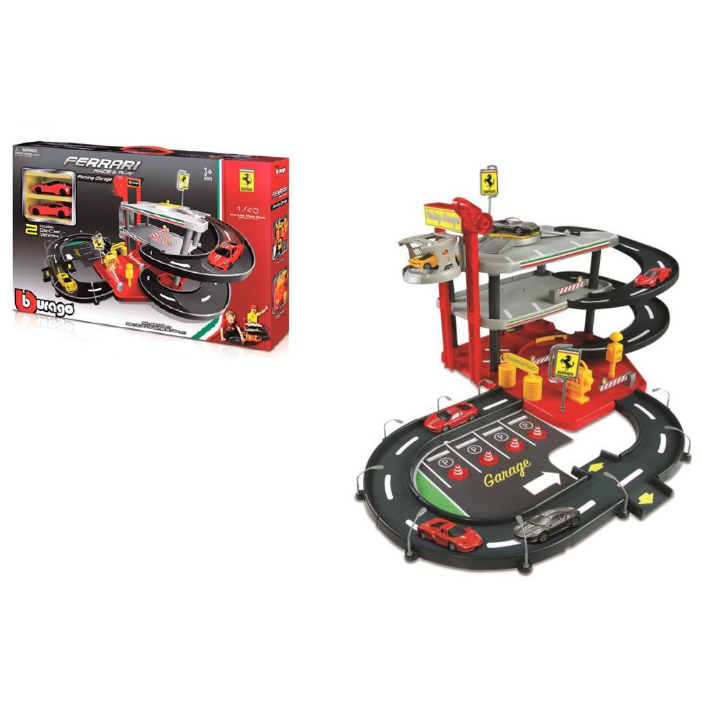 Afbeelding van Burago Garage 3 Etages Ferrari Met 2 Auto's