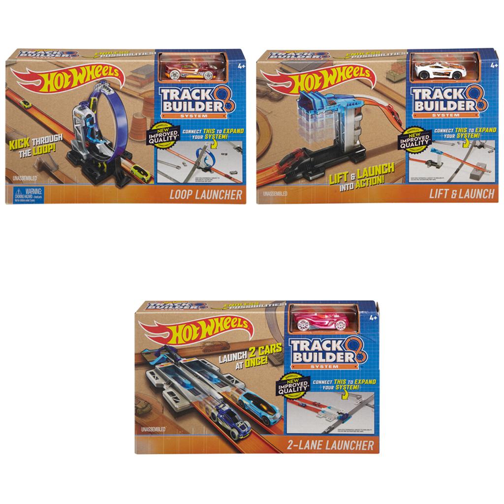 Afbeelding van Hot Wheels Track Builder Basis Set Met Auto Assorti