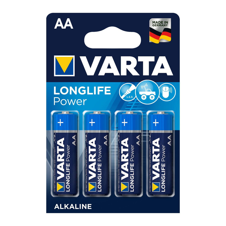 Afbeelding van Batterijen AA Varta Alkaline 4 Stuks