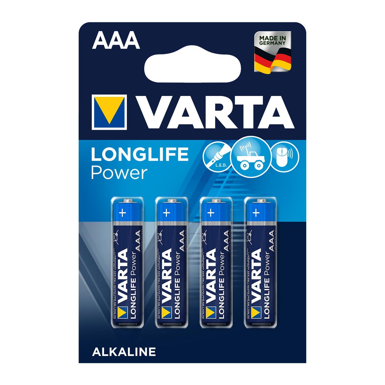 Afbeelding van Batterijen AAA Varta Alkaline 4 Stuks