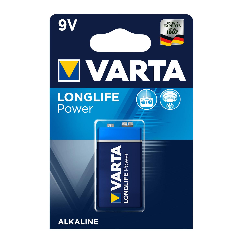 Afbeelding van Batterij 9V Varta Alkaline