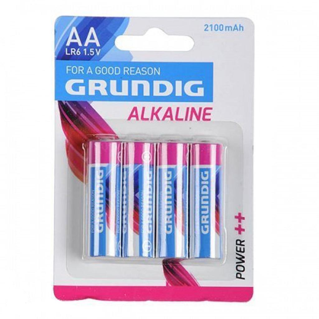 Afbeelding van Batterijen AA 4 Stuks Grundig Alkaline 2100mAh