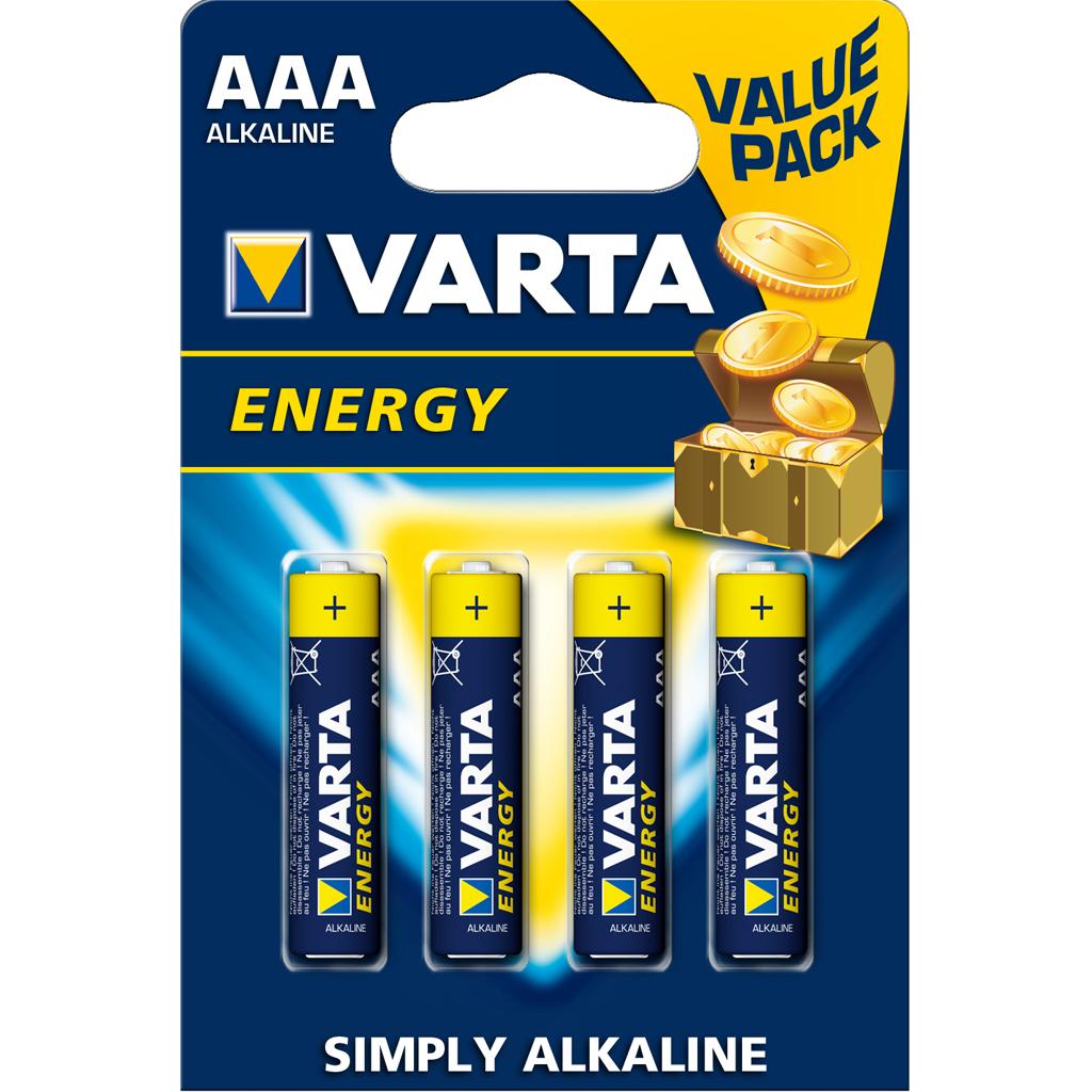 Afbeelding van Batterijen AAA Varta Energy 4 Stuks