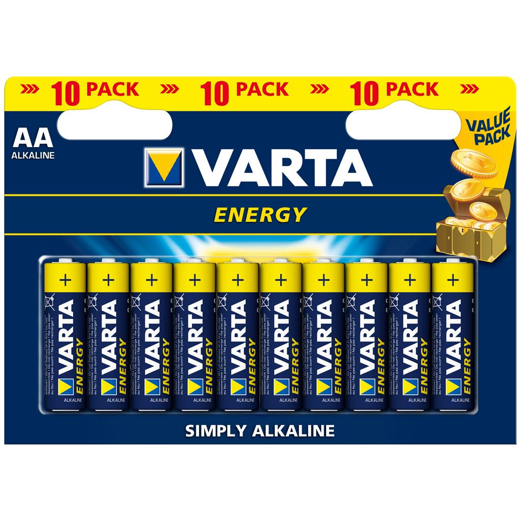 Afbeelding van Batterijen AA 10 Stuks Varta Energy