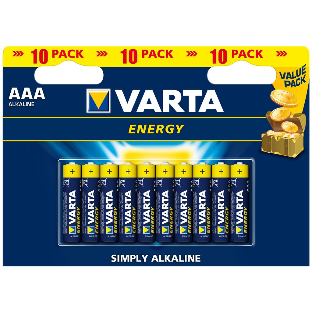 Afbeelding van Batterijen AAA Varta Energy 10 Stuks