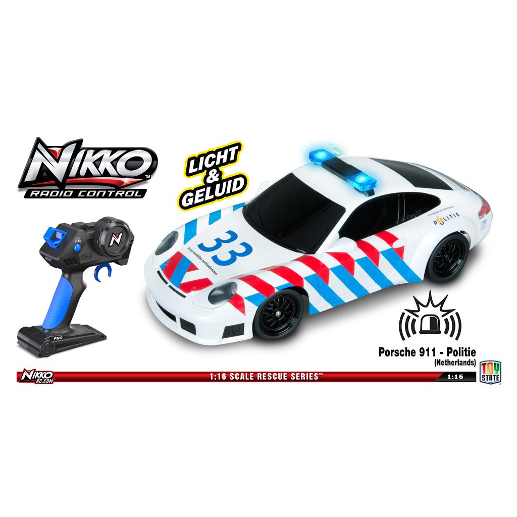Afbeelding van R/C Auto Nikko Porsche 911 Politie NL 1:16