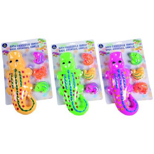 Afbeelding van Badspeelgoed Eddy Toys Krokodil 4-delig Assorti