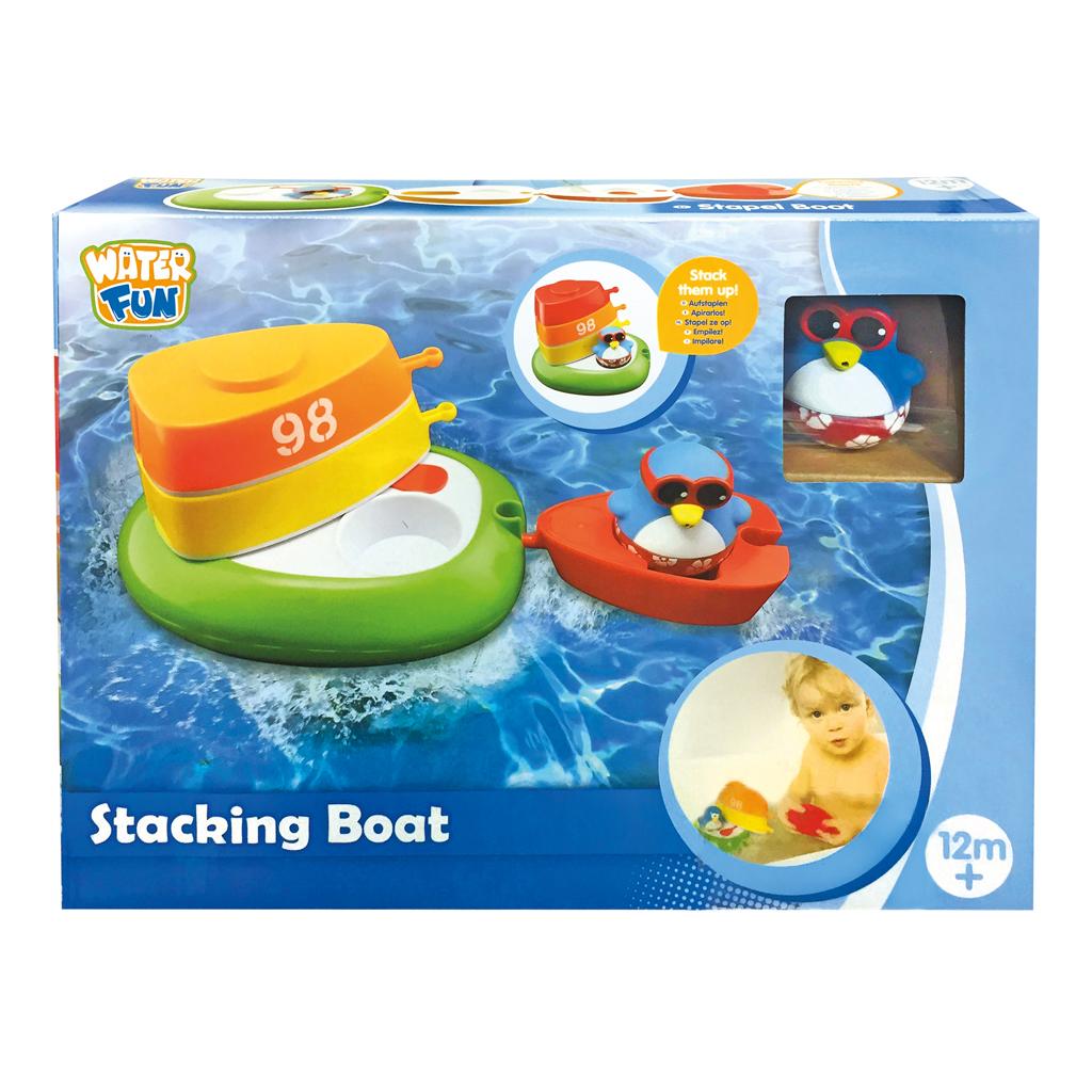 Afbeelding van Badspeelgoed Stapelboot Met Pinguïn