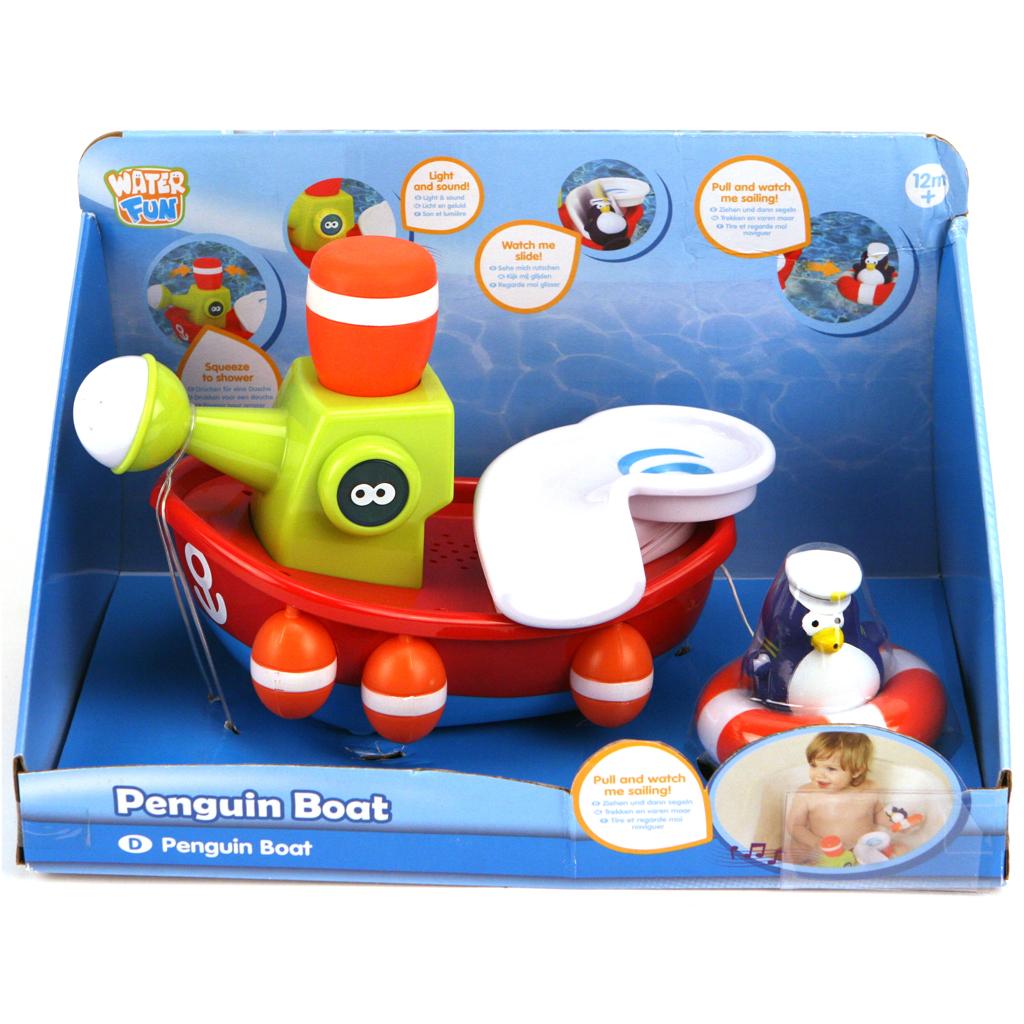 Afbeelding van Badspeelgoed Boot Met Pinguïns