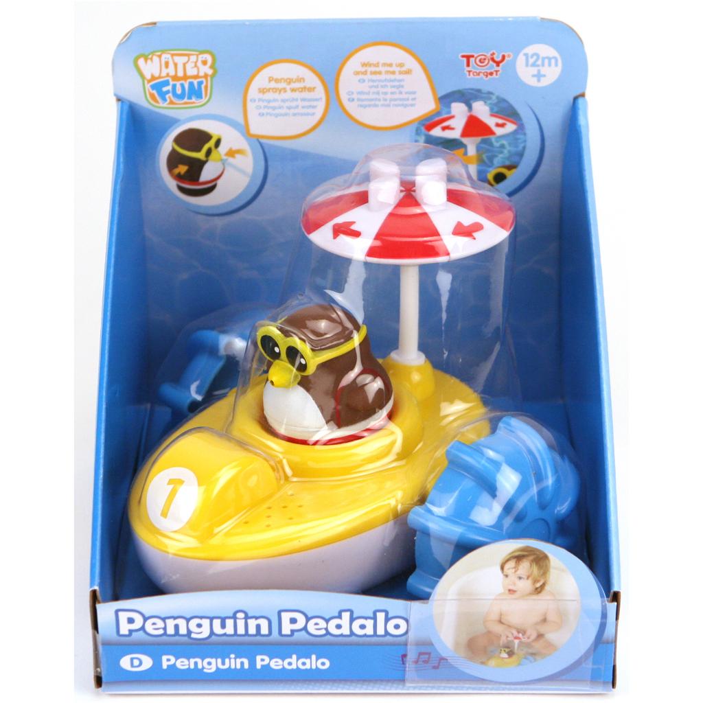 Afbeelding van Badspeelgoed Waterfiets Met Pinguin