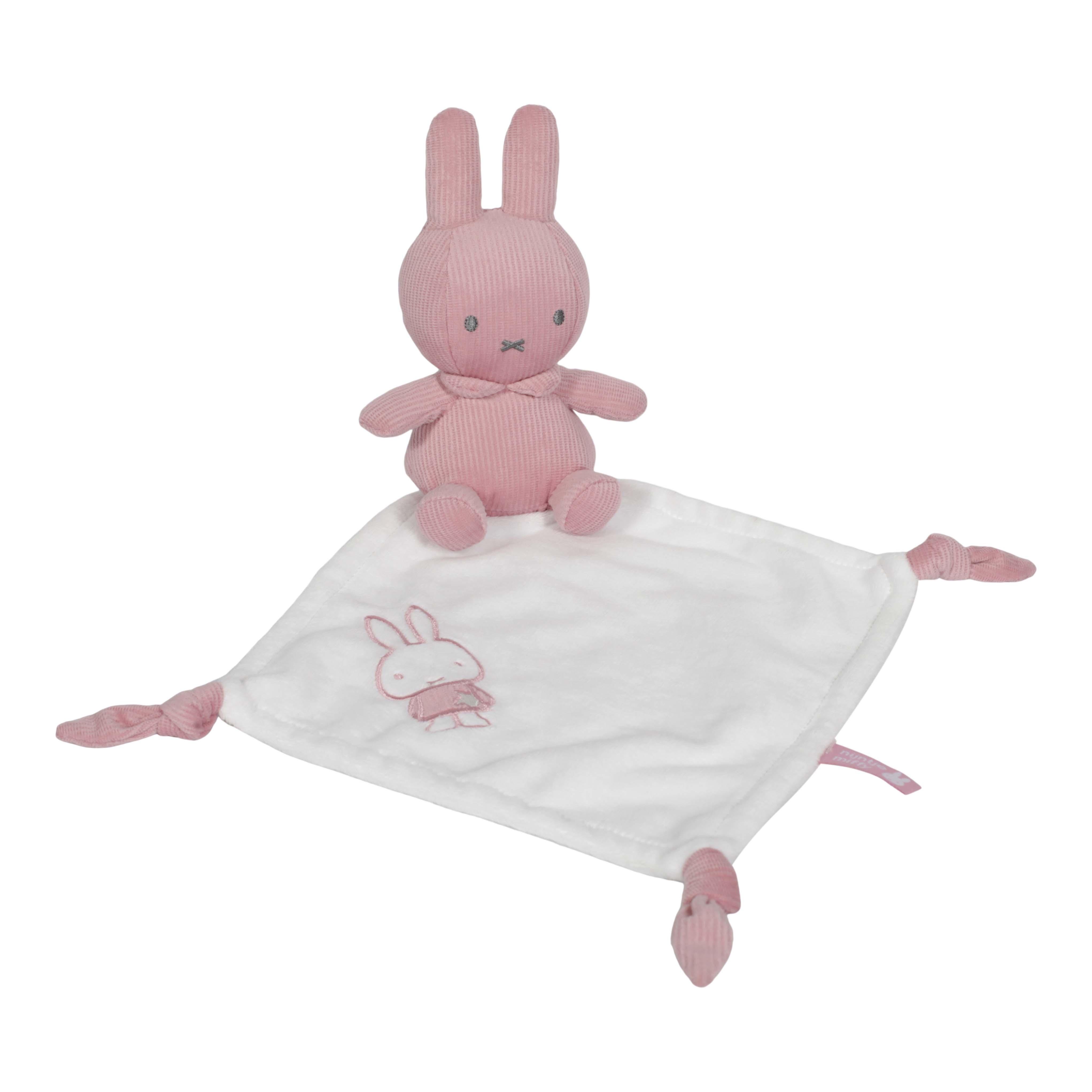 Afbeelding van Nijntje Knuffeldoekje Roze Babyrib