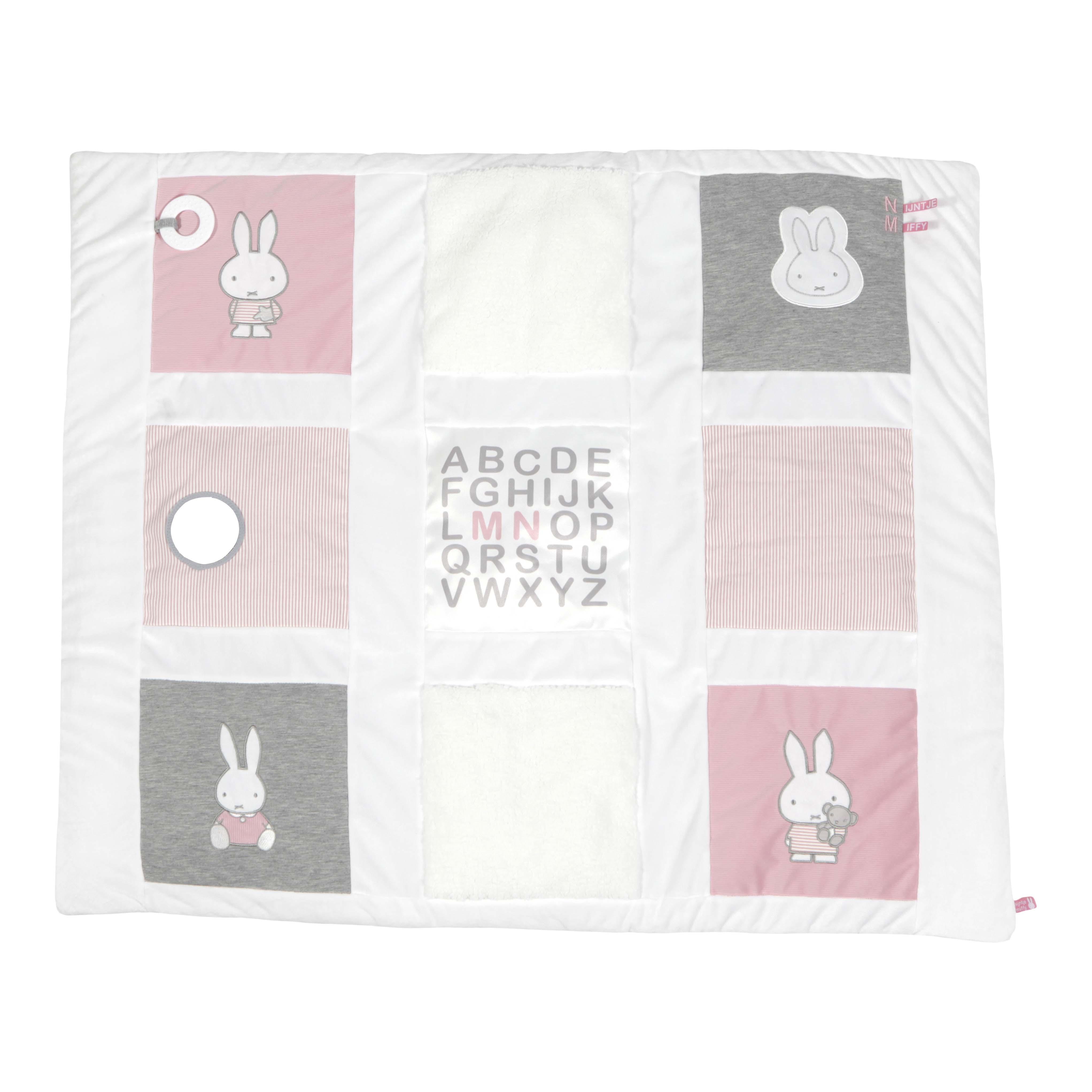 Afbeelding van Nijntje 9-Vlaks Boxkleed Roze Babyrib
