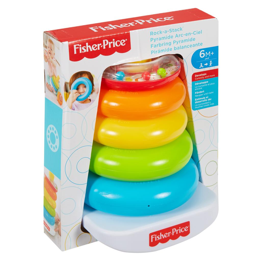 Afbeelding van Fisher Price Kleurenringpiramide