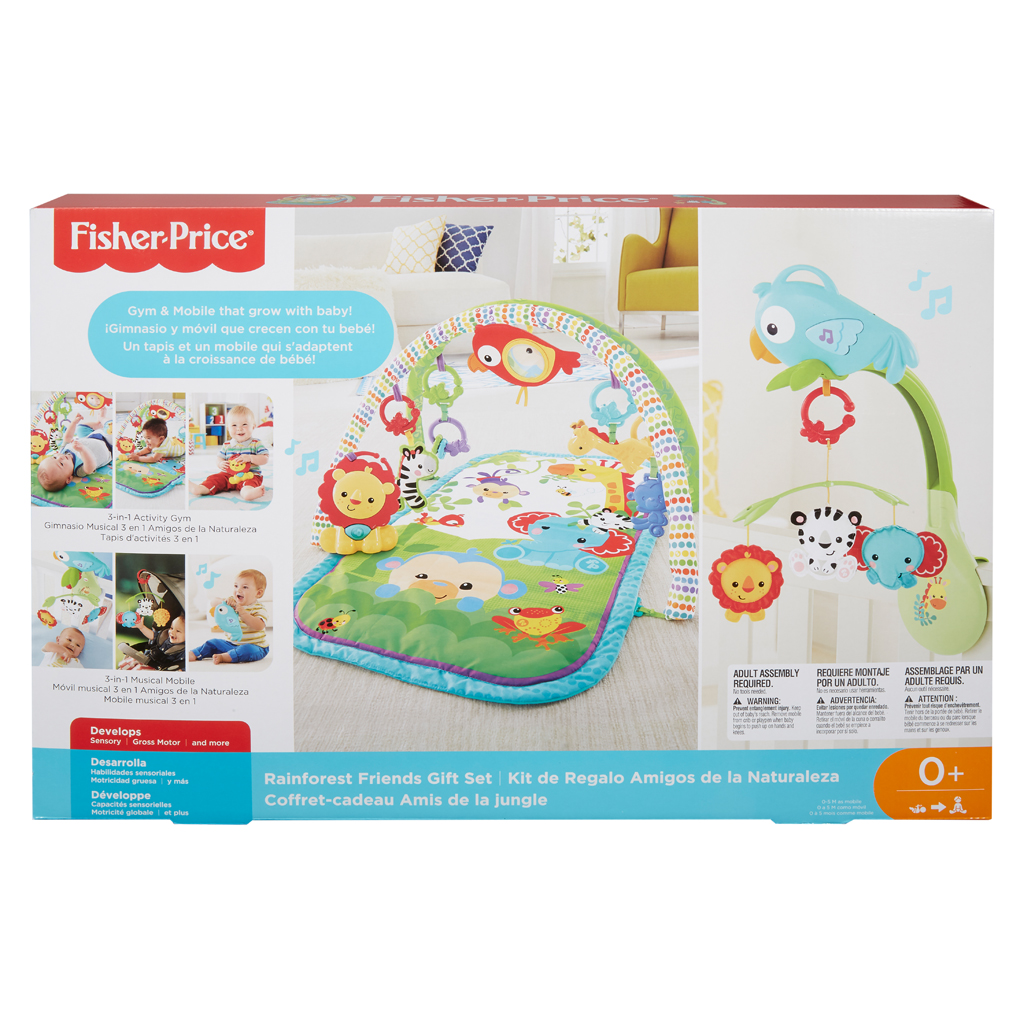 Afbeelding van Fisher-Price 3-In-1 Muzikale Activity Gym + Muziek Mobiel Rainbowforrest