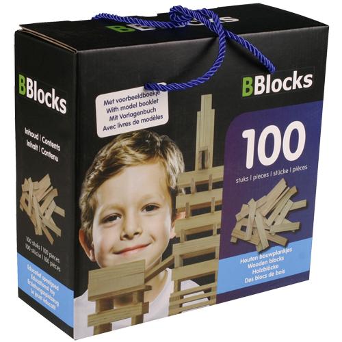 Afbeelding van Bouwplankjes BBlocks In Doos 100 Stuks