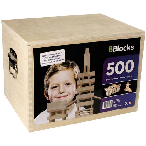 Afbeelding van Bouwplankjes BBlocks In Kist 500 Stuks