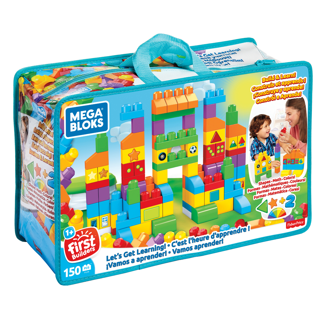 Afbeelding van Fisher Price Mega Bloks Laten We Leren Tas 150 Stukjes