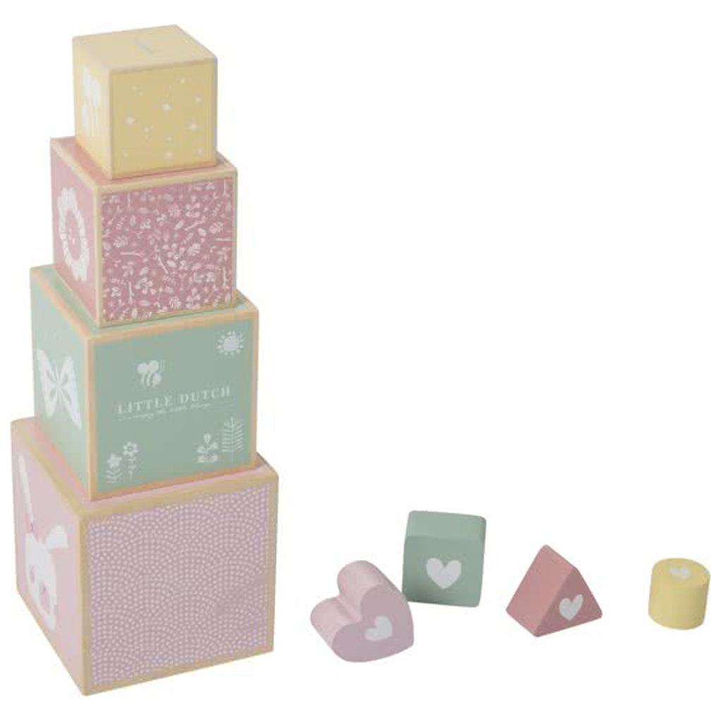 Afbeelding van Little Dutch Stapelblokken Roze