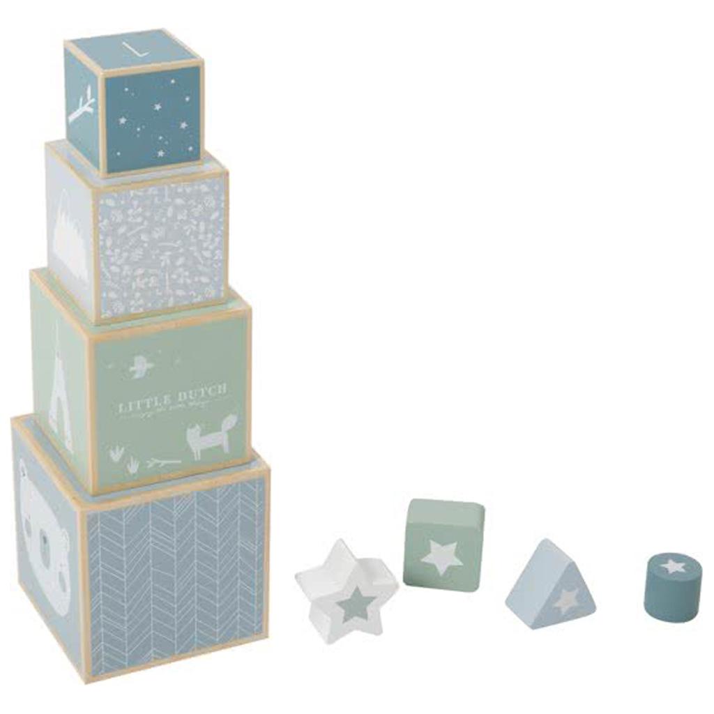 Afbeelding van Little Dutch Stapelblokken Blauw