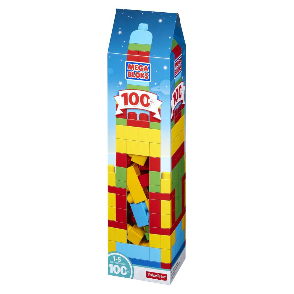 Afbeelding van Mega Bloks First Builders Bouwblokken 100 Stuks As