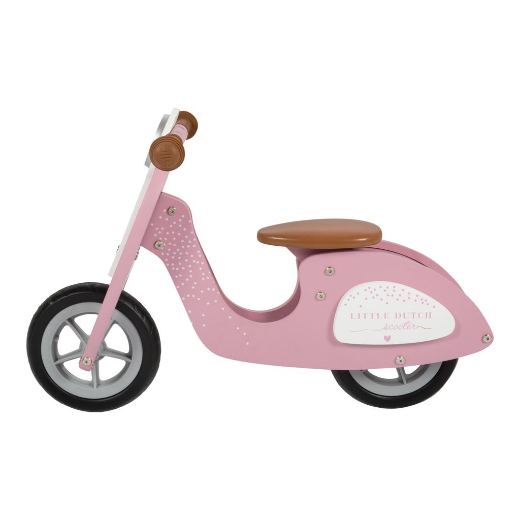 Afbeelding van Houten Loopscooter Pink Little Dutch