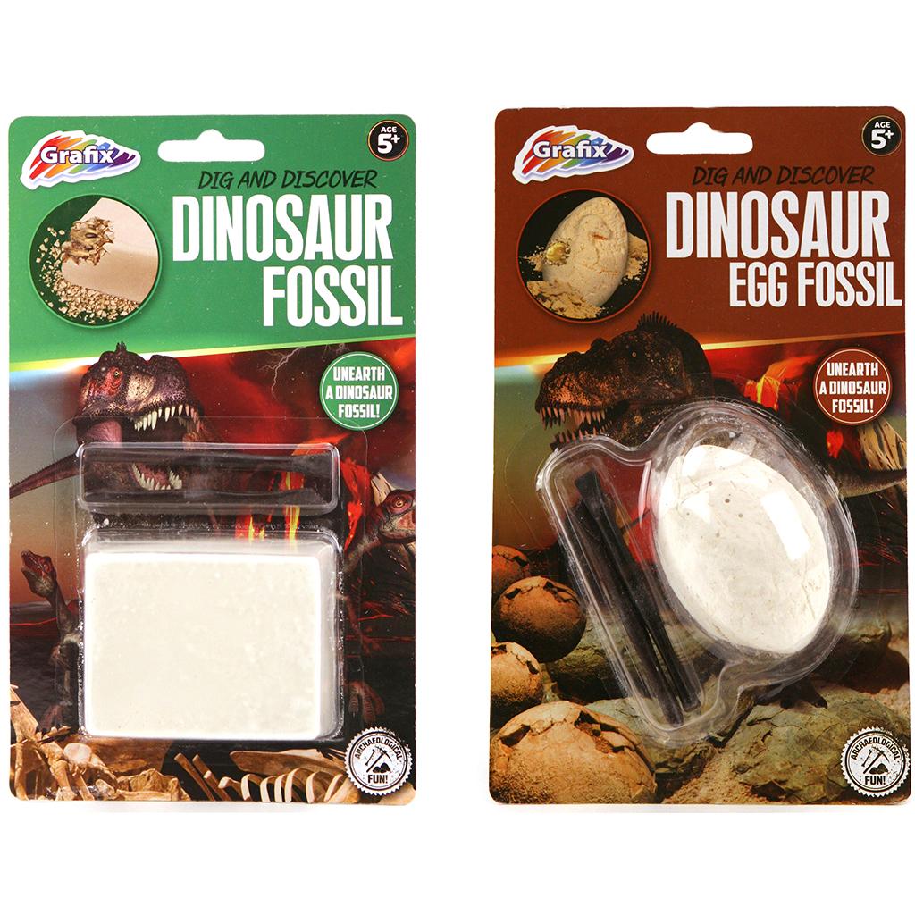 Afbeelding van Dinosaurus Fossiel Uitbikken 2 Assorti
