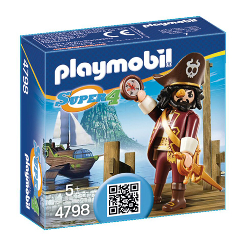 Afbeelding van Playmobil 4798 Super 4 Sharkbeard