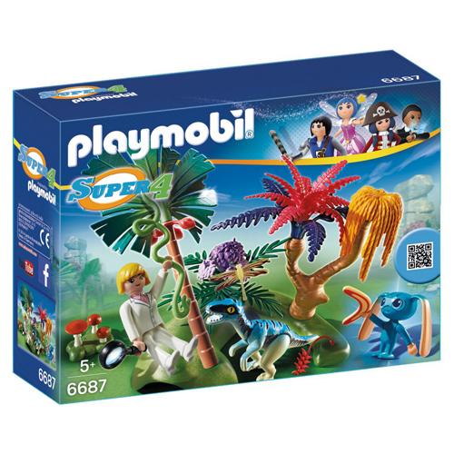 Afbeelding van Playmobil 6687 Super 4 Lost Island Met Alien En Raptor
