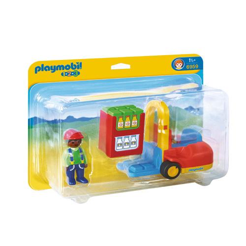 Afbeelding van Playmobil 123 Vorklift Met Lading