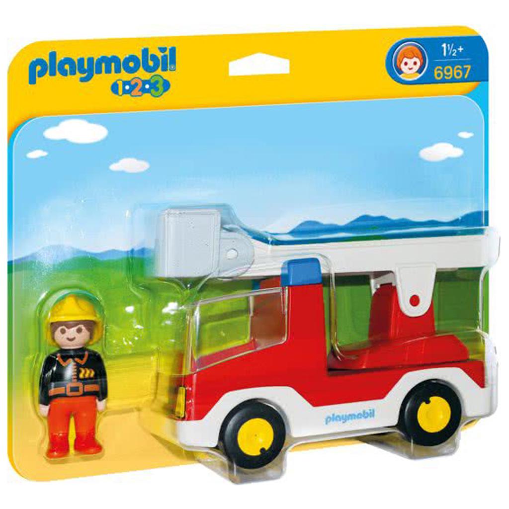 Afbeelding van Playmobil 123 6967 Brandweerwagen Met Ladder
