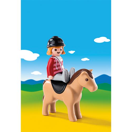 Afbeelding van Playmobil 123 6973 Ruiter Met Paard