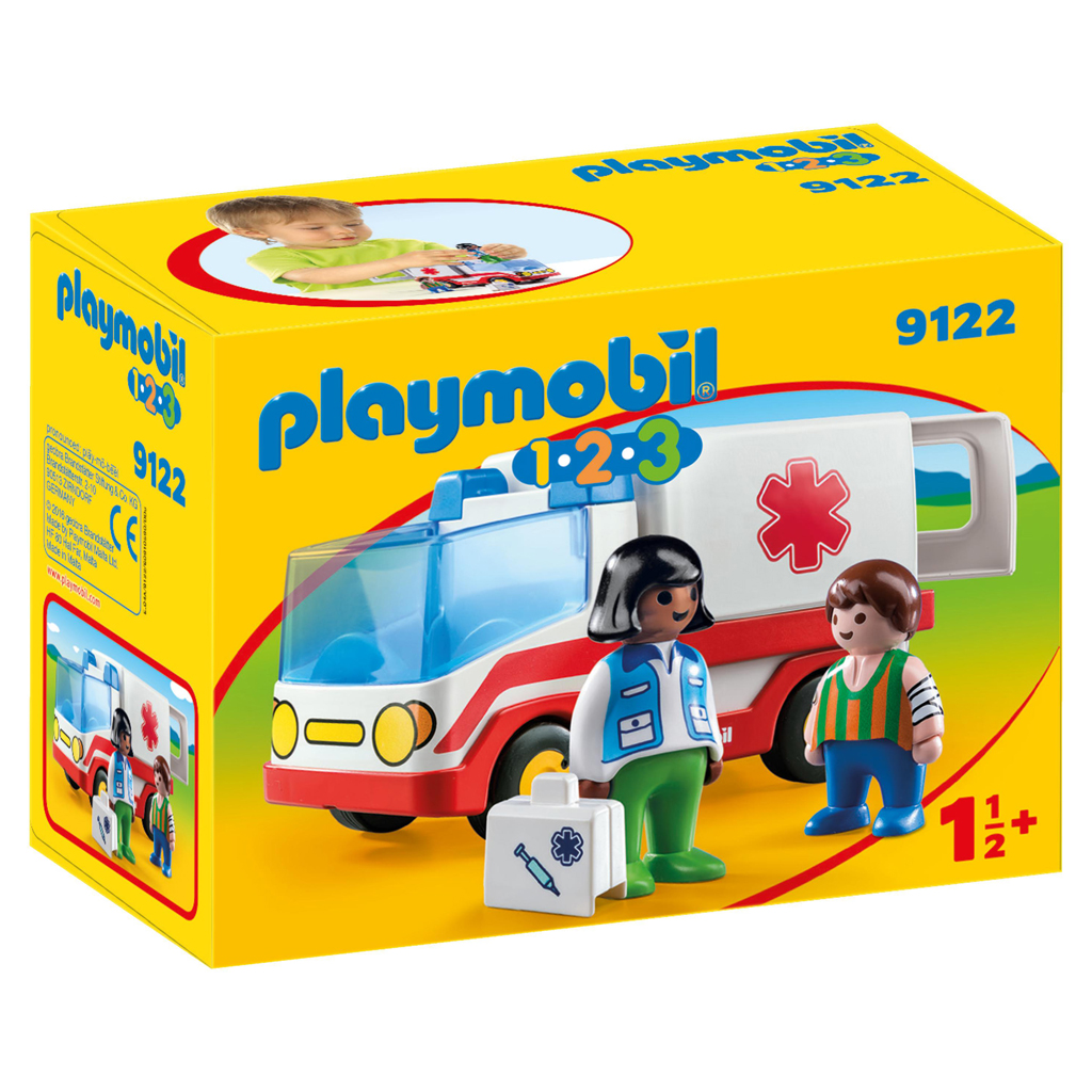 Afbeelding van Playmobil 123 Ziekenwagen
