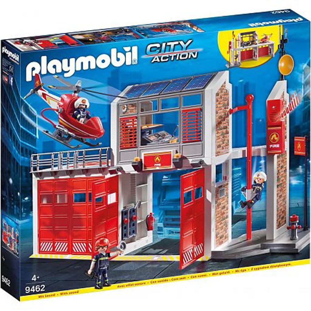 Afbeelding van Plamobil 9462 Grote Brandweerkazerne Met Helicopter